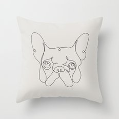 One Line French bulldog Throw Pillow