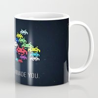 invader zim Mugs featuring invader boss by techjulie