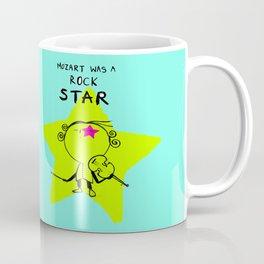 MOZART WAS A ROCK STAR (BLUE) Coffee Mug