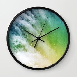 Waterfall nebula Wall Clock