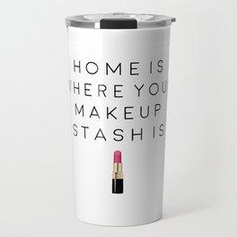 MAKEUP WALL ART,Bathroom Decor,Girly Print,Makeup Quote,makeup Artist,Gift For Her,Funny Print,Home Travel Mug