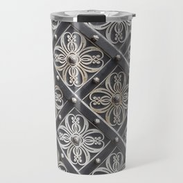 Metallic And Decorative - Grey Monochrome #decor #society6 #buyart Travel Mug