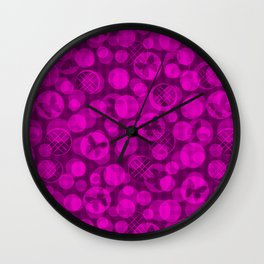 Bright crimson abstract pattern Wall Clock
