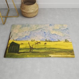 A day in the prairies Rug