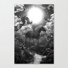 XIX. The Sun Tarot Card Illustration Canvas Print