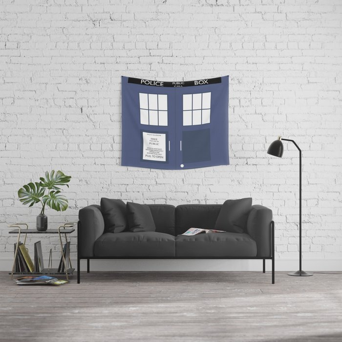 Smaller On The Outside Tardis Wall Tapestry