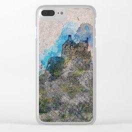 Edinburgh castle Clear iPhone Case
