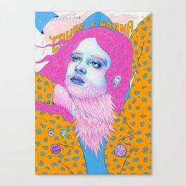 Natalie Foss x Deap Vally Canvas Print