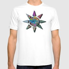 wet paint fractal  Mens Fitted Tee White MEDIUM