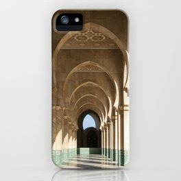 Hassan II Mosque Arcade, Casablanca iPhone Case
