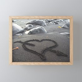 Romance Down the Shore Framed Mini Art Print
