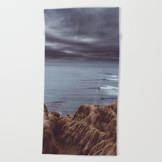 Sunset Cliffs Storm Beach Towel