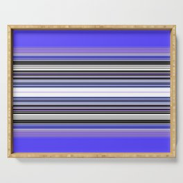 Bright bold Blue And Purple Stripe Serving Tray