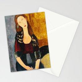 "Amedeo Modigliani ""Jeanne Hebuterne, seated"" Stationery Cards"