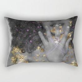 "Gold Fantasy 2 "" Black Gold "" Rectangular Pillow"