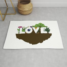 Love for Nature in Negative Space Rug