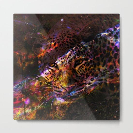 Galaxy Leopard Metal Print