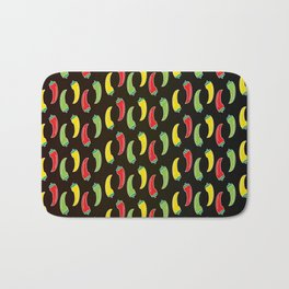 Three Hot Chili Peppers, Which is your? Bath Mat