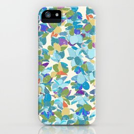 Flower Lei Blue Rows iPhone Case