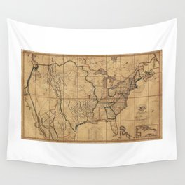 Map of the United States by John Melish (1818) 3rd State Wall Tapestry
