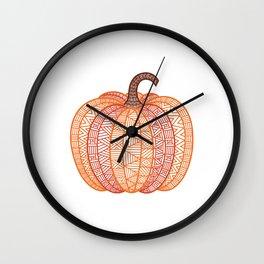 Patterned Pumpkin Wall Clock