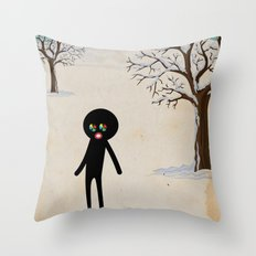 b r r r Throw Pillow