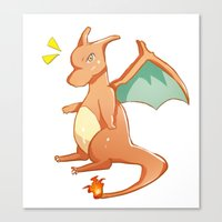 charizard Canvas Prints featuring Charizard by jimmy