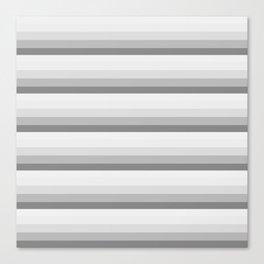 Gray Ombre Stripes Canvas Print