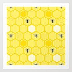 Honey Bees Art Print