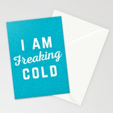 Freaking Cold Funny Quote Stationery Cards