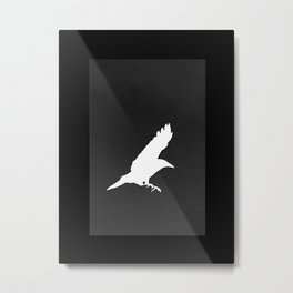 White Crow Metal Print