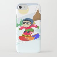 snowboarding iPhone & iPod Cases featuring Winter Sports: Snowboarding by Alapapaju