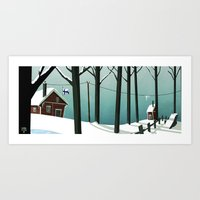 finland Art Prints featuring Finland by quentinschall
