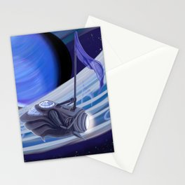 Through Space and Sound Stationery Cards
