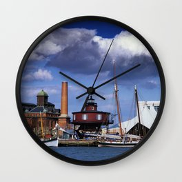 Seven Foot Knoll Lighthouse in Baltimore Harbor Wall Clock