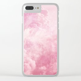 Cotton Candy Sky Clear iPhone Case