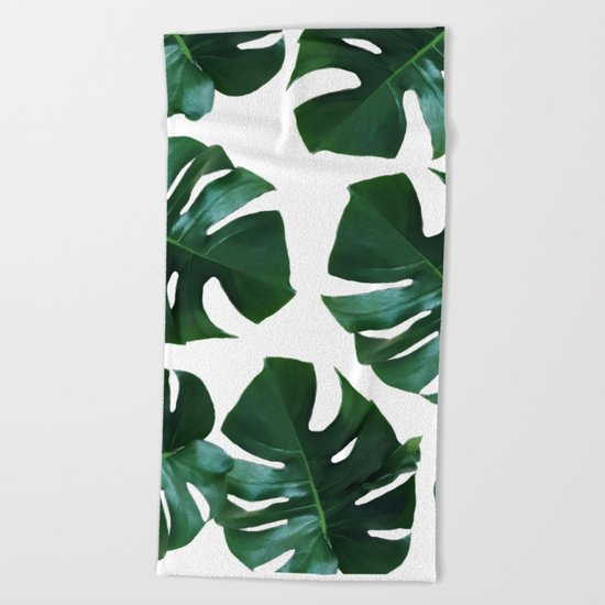 Monstera exotica Beach Towel