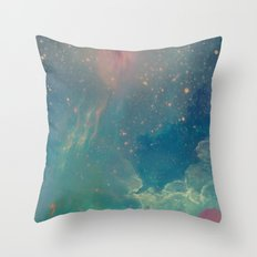 Space fall Throw Pillow
