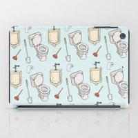 bathroom iPad Cases featuring Bathroom Pattern by Josh LaFayette
