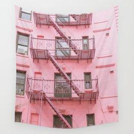 Pink Soho NYC Wall Tapestry