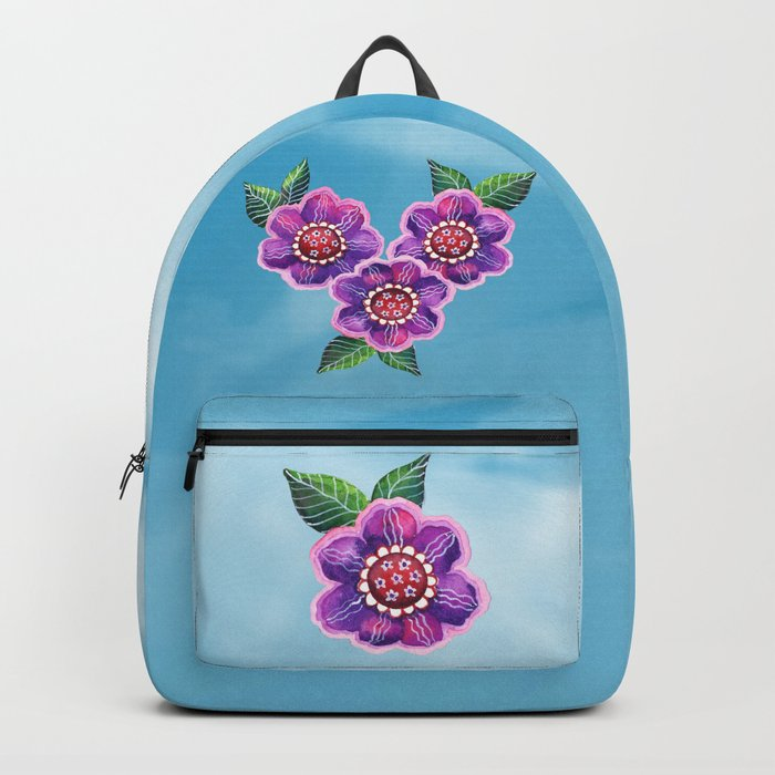 Purple Flowers II Backpack