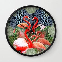 Flamingo Bada Bingo Wall Clock
