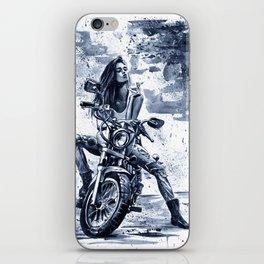 Biker Girl iPhone Skin