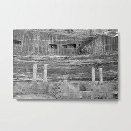 Amphitheater in Petra, Jordan Metal Print