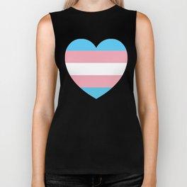 Trans Pride Heart Biker Tank