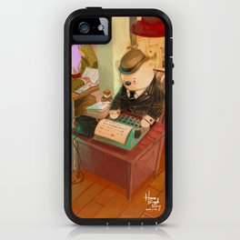 We are working hard,we're not sleepy, we just have smallest eyes iPhone Case