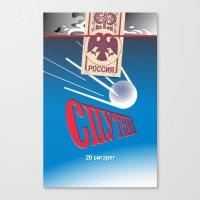 cigarettes Canvas Prints featuring SPUTNIK Cigarettes by Billy Davis