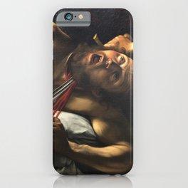 Judith beheading Holofernes, Caravaggio, baroque painting, italian painter iPhone Case