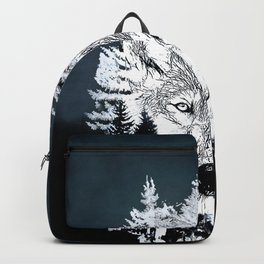 Forest Wolf Art Backpack