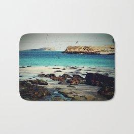 Dinosaur Beach - Retro look fine art canvas print Bath Mat